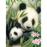 "Royal & Langnickel® Painting by Numbers™ 8 3/4 x 11 3/8 Junior Small Set Panda & Baby: 8 3/4"" x 11 3/8"", (model PJS39), price per set"