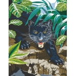 "Royal & Langnickel® Painting by Numbers™ 8 3/4 x 11 3/8 Junior Small Set Black Leopard: 8 3/4"" x 11 3/8"", (model PJS42), price per set"