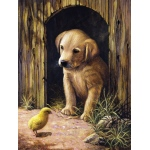"Royal & Langnickel® Painting by Numbers™ 8 3/4 x 11 3/8 Junior Small Set Labrador Pup: 8 3/4"" x 11 3/8"", (model PJS50), price per set"