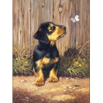 """Royal & Langnickel® Painting by Numbers™ 8 3/4 x 11 3/8 Junior Small Set Dachshund Pup: 8 3/4"""" x 11 3/8"""", (model PJS51), price per set"""