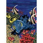 "Royal & Langnickel® Painting by Numbers™ 8 3/4 x 11 3/8 Junior Small Set Underwater Life; Board Size: 8 3/4"" x 11 3/8""; (model PJS6), price per set"