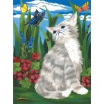 "Royal & Langnickel® Painting by Numbers™ 8 3/4 x 11 3/8 Junior Small Set Kitten & Butterflies; Board Size: 8 3/4"" x 11 3/8""; (model PJS7), price per set"