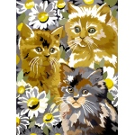 "Royal & Langnickel® Painting by Numbers™ 8 3/4 x 11 3/8 Junior Small Set Kittens & Daises; Board Size: 8 3/4"" x 11 3/8""; (model PJS9), price per set"