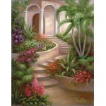 "Royal & Langnickel® Paint Your Own Masterpiece™ 11 x 14 Spanish Garden; Board Size: 11"" x 14""; (model POM-SET11), price per set"