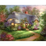 "Royal & Langnickel® Paint Your Own Masterpiece™ 11"" x 14"" Enchanted Cottage; Board Size: 11"" x 14""; (model POM-SET16), price per set"