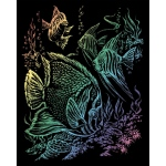 "Royal & Langnickel® Engraving Art Set Rainbow Foil Tropical Fish; Board Size: 8"" x 10""; Color: Multi; (model RAIN11), price per set"