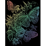 "Royal & Langnickel® Engraving Art Set Rainbow Foil Butterflies; Board Size: 8"" x 10""; Color: Multi; (model RAIN12), price per set"