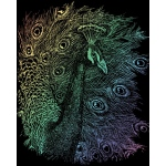 "Royal & Langnickel® Engraving Art Set Rainbow Foil Peacock: 8"" x 10"", Multi, (model RAIN14), price per set"
