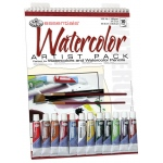 "Royal & Langnickel® Essentials™ Watercolor Paint Artist Pack; Binding: Wire Bound; Color: Multi; Format: Pad; Quantity: 10 Sheets; Size: 9"" x 12""; Type: Watercolor; (model RD502), price per 10 Sheets"