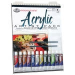 "Royal & Langnickel® Essentials™ Acrylic Paint Artist Pack; Binding: Wire Bound; Color: Multi; Format: Pad; Quantity: 10 Sheets; Size: 9"" x 12""; Type: Acrylic; (model RD505), price per 10 Sheets"