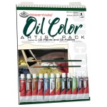 "Royal & Langnickel® Essentials™ Oil Color Paint Artist Pack: Wire Bound, Multi, Pad, 10 Sheets, 9"" x 12"", Oil, (model RD506), price per 10 Sheets"