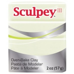 Sculpey® III Polymer Clay Glow in the Dark: Glow in the Dark, Bar, Polymer, 2 oz, (model S3021113), price per each