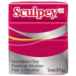 Sculpey® III Polymer Clay Deep Red Pearl: Red/Pink, Bar, Polymer, 2 oz, (model S3021140), price per each