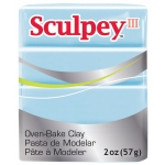 Sculpey® III Polymer Clay Sky Blue: Blue, Bar, Polymer, 2 oz, (model S3021144), price per each