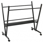 "Heritage Arts™ Steel Print Rack: Black/Gray, Steel, 6""d x 19""w x 33""h, Display, (model MPR10), price per each"