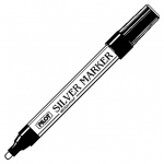 Pilot® Metallic Paint Marker Medium Silver; Color: Metallic; Ink Type: Paint; Tip Type: Medium Nib; (model SC-SM), price per each