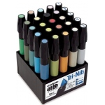 Chartpak® AD™ Marker 25-Color Architectural Set: Multi, Xylene-Based, Fine Nib, (model SETJ), price per set