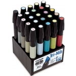 Chartpak® AD™ Marker 25-Color Landscape Set: Multi, Xylene-Based, Fine Nib, (model SETL), price per set