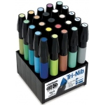 Chartpak® AD™ Marker 25-Color Art Director Set; Color: Multi; Ink Type: Xylene-Based; Tip Type: Fine Nib; (model SETK), price per set