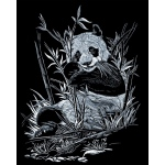 "Royal & Langnickel® Engraving Art Set Silver Foil Panda; Board Size: 8"" x 10""; Color: Metallic; (model SILF12), price per set"