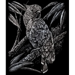 "Royal & Langnickel® Engraving Art Set Silver Foil Cockatoo: 8"" x 10"", Metallic, (model SILF18), price per set"