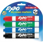 Expo® Low Odor Dry Erase Marker 4-Piece Chisel Nib Set; Color: Multi; Tip Type: Chisel Nib; (model SN80174), price per set