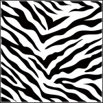 "The Crafter's Workshop 12"" x 12"" Design Template Zebra Print; Size: 12"" x 12""; Type: Patterned Stencil; (model TCW189), price per each"