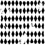 "The Crafter's Workshop 12"" x 12"" Design Template Harlequin; Size: 12"" x 12""; Type: Patterned Stencil; (model TCW202), price per each"