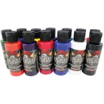 Wicked Colors™ Airbrush Paint Dru Blair 17-Piece Set; Color: Multi; Format: Bottle; Size: 2 oz; Type: Airbrush; (model W112-00), price per set