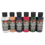 Wicked Colors™ Airbrush Paint Steve Driscoll Flesh Tone 6-Color Set; Color: Multi; Format: Bottle; Size: 2 oz; Type: Airbrush; (model W111-00), price per set