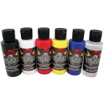 Wicked Colors™ Airbrush Paint Primary 6-Color Set; Color: Multi; Format: Bottle; Size: 2 oz; Type: Airbrush; (model W101-00), price per set