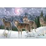 "Royal & Langnickel® Painting by Numbers™ 12 3/4 x 15 3/4 Adult Set Wolves; Board Size: 12 3/4"" x 15 3/4""; (model PAL19), price per set"
