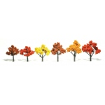 "Woodland Scenics® 3""-5"" Ready Made Tree Value Pack Fall Colors: 14-Pack, 3"" - 5"", Tree, (model WSTR1577), price per each"