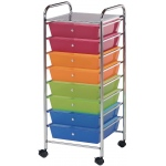 "Blue Hills Studio™ Storage Cart 8-Drawer (Wide) Multi-Colored; Color: Multi; Drawer Size: 12 3/8""l x 12 3/8""w x 3 1/2""h; Material: Plastic; Quantity: 8-Drawer; (model SC8MC-12), price per each"