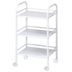 "Blue Hills Studio™ Storage Cart 3-Shelf White; Color: White/Ivory; Material: Plastic; Quantity: 3-Shelf; Size: 12""d x 4 1/4""w x 29 3/4""h; (model SH3WH), price per each"