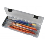 "ArtBin Pencil/Utility Box: Translucent/Charcoal, 12.38"" x 4.87"" x 1.75"""