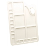 Reeves™ Large Rectangular Plastic Palette; Material: Plastic; Shape: Rectangle; Size: Large; (model 4870002), price per each
