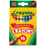 Crayola® Original Crayon 16-Color Set: Multi, Stick, (model 52-3016), price per pack