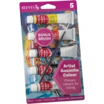Reeves™ 22ml Gouache 5-Color Paint Set : Multi, Tube, 22 ml, Gouache, (model 8210123), price per set