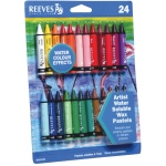 Reeves™ Water Soluble Wax Pastel 24-Color Set; Color: Multi; Type: Wax; (model 8210126), price per set