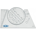 "Alvin® Lettering Guide & Rule Template: 2 3/8"" x 3 7/8"", Lettering, (model AL666), price per each"