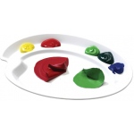 "Martin Universal Mijello  Ellipse S Peel-Able Ellipse Palette for Oils and Acrylics: White/Ivory, Circle, 7 3/4""l x 10 1/2""w x 3/4""h, (model AP3078), price per each"