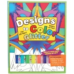 Flying Frog Designs to Color Glitter Glue Original Activity Book; Color: Multi; Type: Children's Art Kit; (model FFD2CO-G), price per each