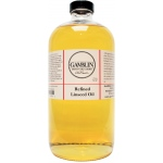 Gamblin Refined Linseed Oil 32oz; Size: 32 oz; Type: Linseed Oil; (model G06032), price per each