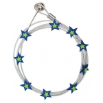"Mishu Mighty Magnet Photo Cable Blue Stars; Color: Blue; Length: 57""; Shape: Star; Type: Cable; (model M087), price per each"