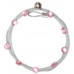 "Mishu Mighty Magnet Photo Cable Pink Bling: Red/Pink, 57"", Circle, Cable, (model M882), price per each"