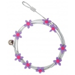 "Mishu Mighty Magnet Photo Cable Purple Flowers; Color: Purple; Length: 57""; Shape: Flower; Type: Cable; (model M084), price per each"