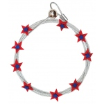 "Mishu Mighty Magnet Photo Cable Red Stars; Color: Red/Pink; Length: 57""; Shape: Star; Type: Cable; (model M088), price per each"