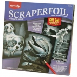 "Reeves™ Scraperfoil™ Scraperfoil Gift Set; Color: Metallic; Size: 10"" x 12""; (model PPSFS7), price per set"