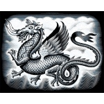 "Reeves™ Scraperfoil™ Scraperfoil Dragon; Color: Metallic; Size: 8"" x 10""; (model PPSF47), price per each"